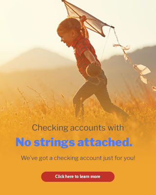 Learn more about USECU checking accounts. With no strings attached, we've got a checking account just for you.