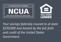 USE Credit Union is federally insured by the NCUA and is an Equal Housing Lender. Your savings federally insured to at least $250,000 and backed by the full faith and credit of the United States Government.